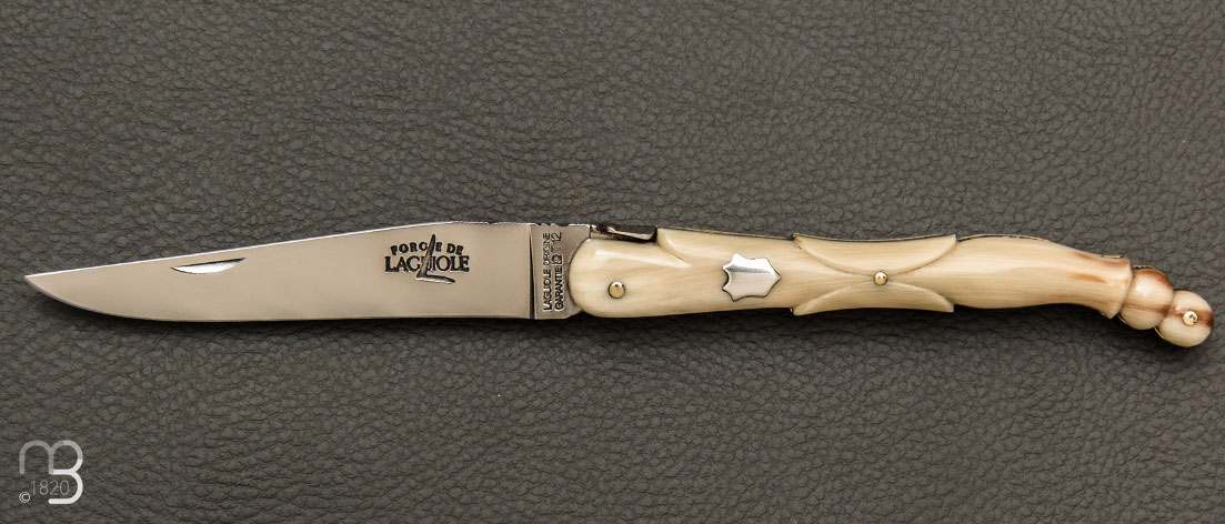Laguiole knife by Stephane Rambaud - Blonde horn pigeon wing - Buy